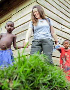 Lorna in Myende, Uganda